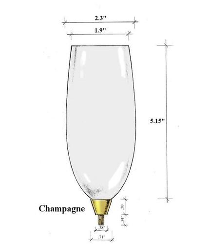 Edgar Berebi Silver Champagne Flute Top Bowl Glass
