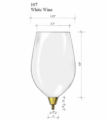 Edgar Berebi Silver White Wine Top Bowl Glass