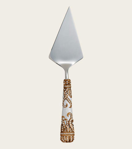 Edgar Berebi Ursula Pearl Gold Plate Pie Server