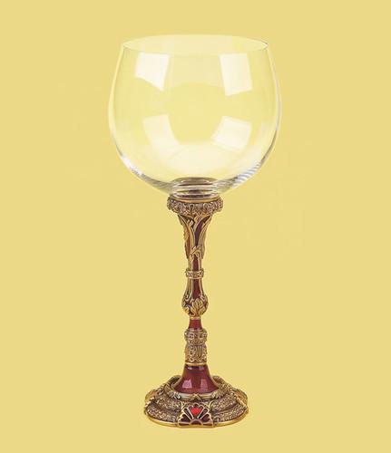 Edgar Berebi Valencia Gold Plate Garnet Colorado Water Wine Champagne Stem
