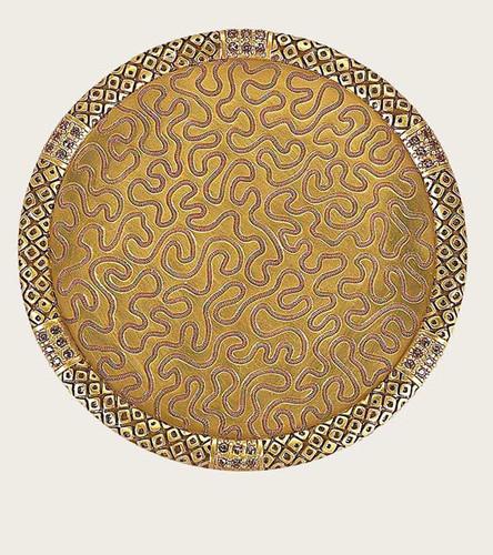 Edgar Berebi Gold Plate Coaster Colorado Florentine
