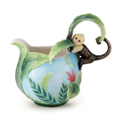 Franz Porcelain Jungle Fun Monkey Creamer FZ02004