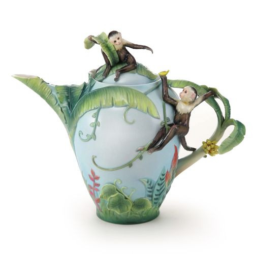 Franz Porcelain Jungle Fun Monkey Teapot FZ02006
