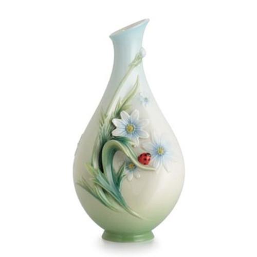Franz Porcelain Ladybug Small Vase FZ02629