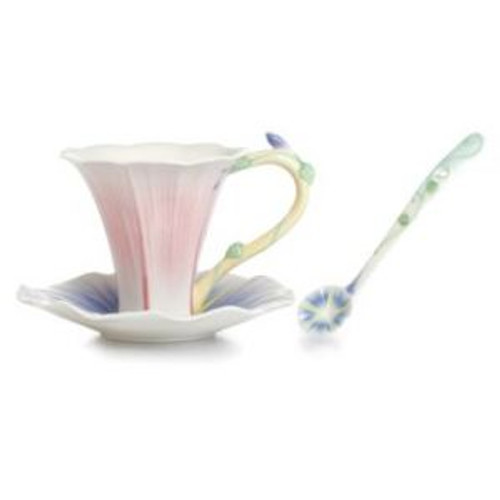 Franz Porcelain Les Jardin Morning Glory Flower Spoon FZ02337