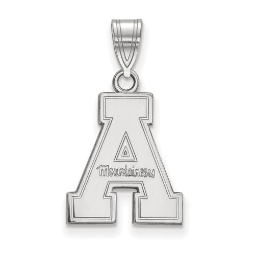 Appalachian State University Medium Pendant Sterling Silver SS003APS