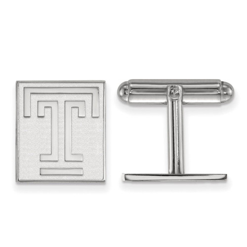Temple University Cuff Link Sterling Silver SS010TEU