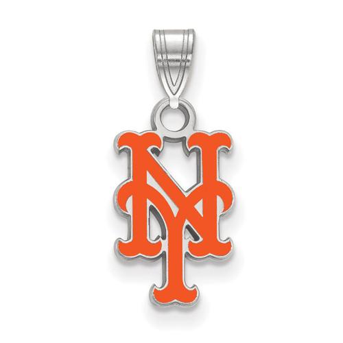 New York Mets Small Enamel Pendant Sterling Silver SS011MET