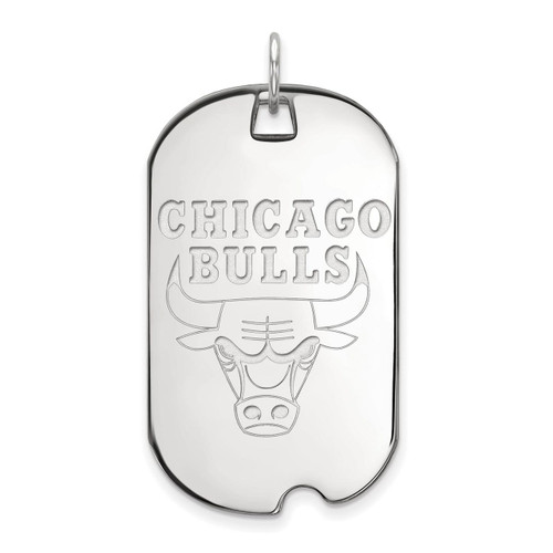 Chicago Bulls Large Dog Tag Sterling Silver SS022BUL