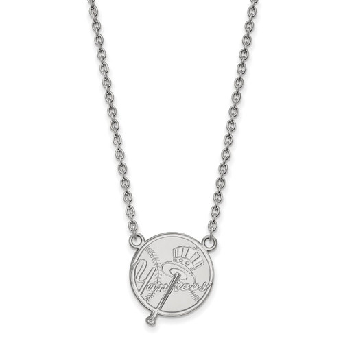 New York Yankees Large Pendant with Necklace Sterling Silver SS060YAN-18
