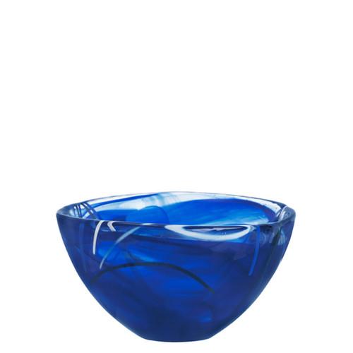 Kosta Boda Contrast Bowl Blue Small