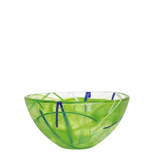 Kosta Boda Contrast Bowl Lime Small