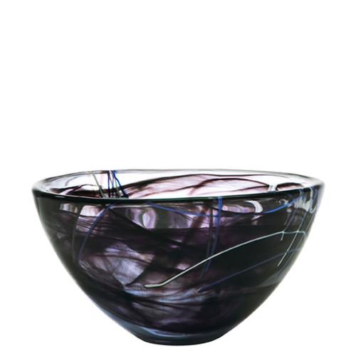 Kosta Boda Contrast Bowl Black Medium