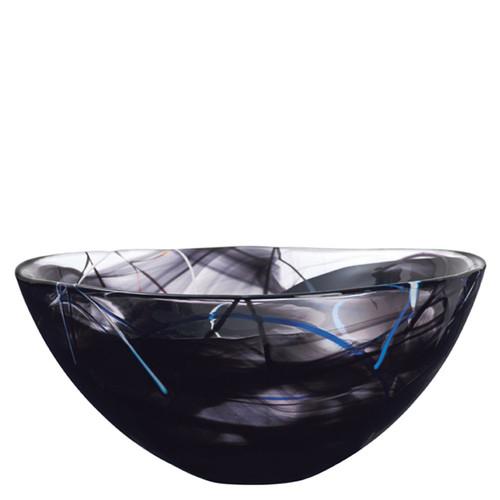 Kosta Boda Contrast Bowl Black Large