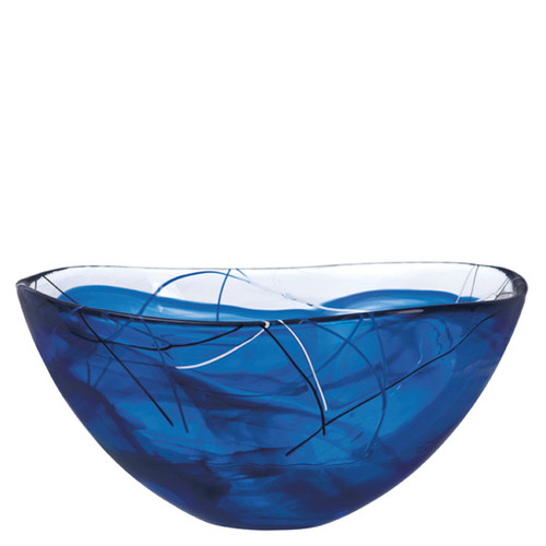 Kosta Boda Contrast Bowl Blue Large