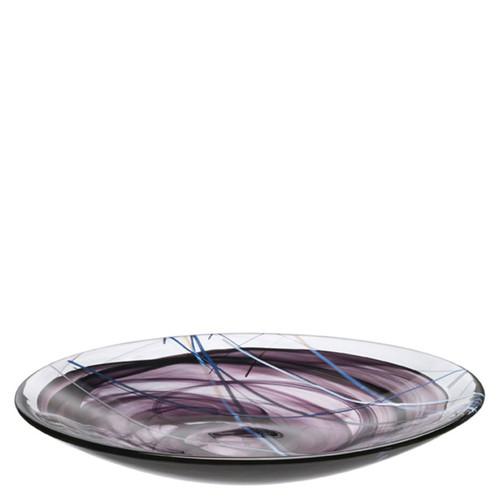 Kosta Boda Contrast Platter Black