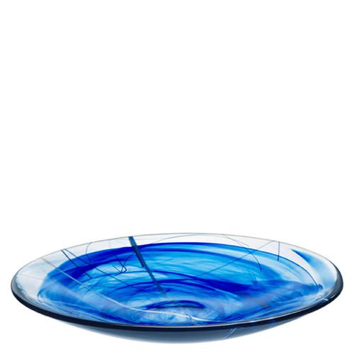 Kosta Boda Contrast Platter Blue