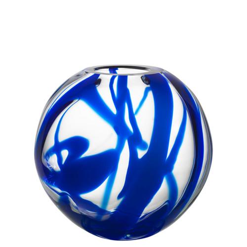 Kosta Boda Globe Vase Blue