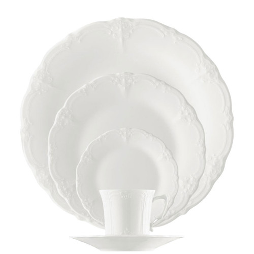Rosenthal Baronesse White 5 Five Piece Place Setting