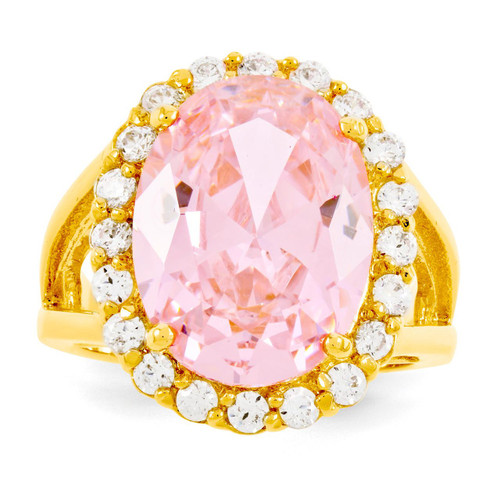 Size 6 Jackie Kennedy Vermeil Simulated Kunzite Ring