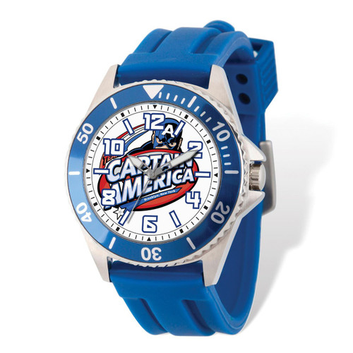 Marvel Captain America Blue Band Watch Adult Size MPN: XWA5454