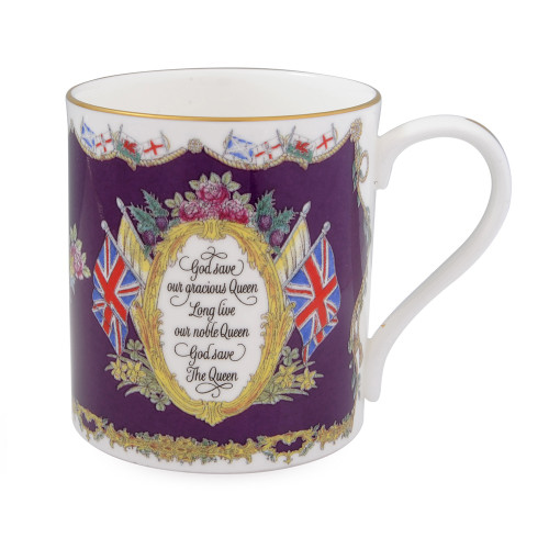 Halcyon Days Vivat Regina Royal Purple Mug BCVRE13MGG