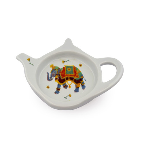 Halcyon Days Ceremonial Indian Elephant Tea Bag Tidy BCCIE03TBN