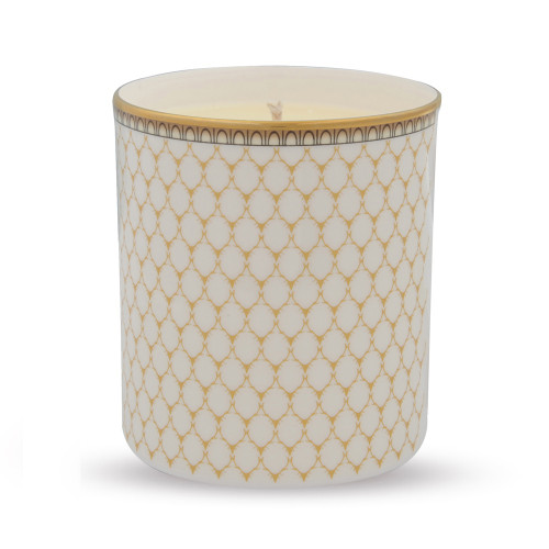 Halcyon Days Antler Trellis Ivory Filled Candle BCGAT04CAG