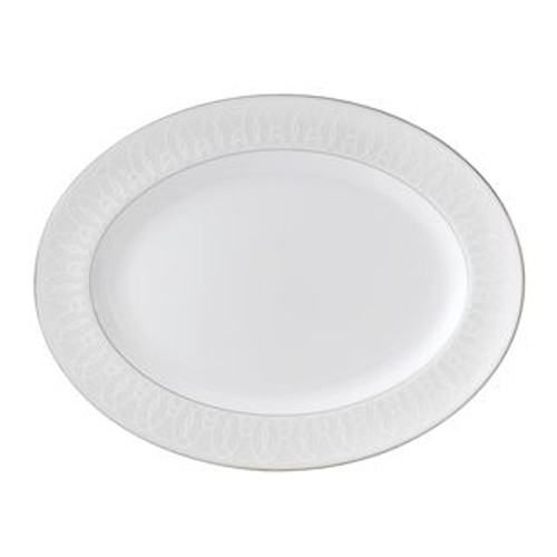 Waterford Ballet Icing Pearl Oval Platter 15.25 Inch