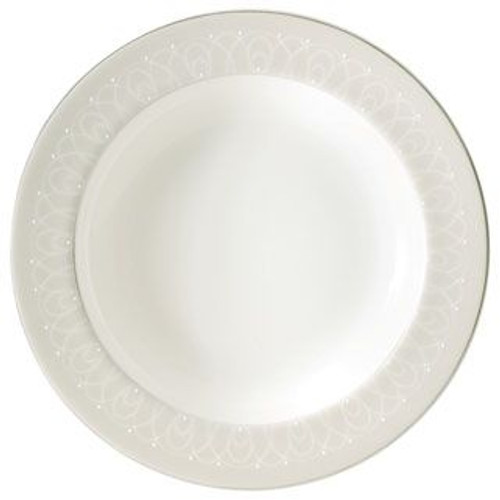 Waterford Ballet Icing Pearl Rim Soup Plate 9 Inch