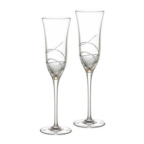 Waterford Ballet Ribbon Essence Champagne Flute 8 Oz Pair