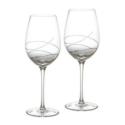 Waterford Ballet Ribbon Essence Red Wine Goblet 19 Oz Pair