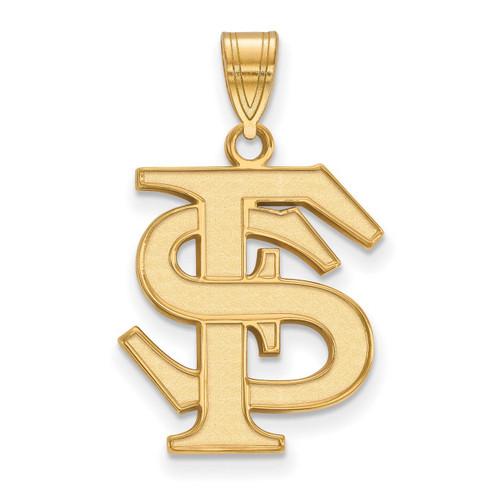 Florida State University Large Pendant 10k Yellow Gold 1Y004FSU