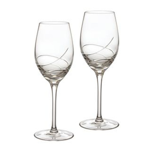 Waterford Ballet Ribbon Essence White Wine 14 Oz Pair