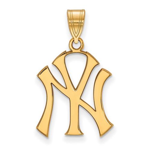 New York Yankees Large Pendant 10k Yellow Gold 1Y004YAN