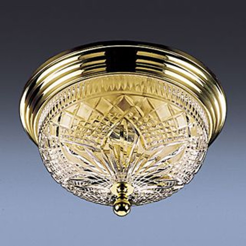 Waterford Beaumont Ceiling Fixture 12 Inch Polished Brass