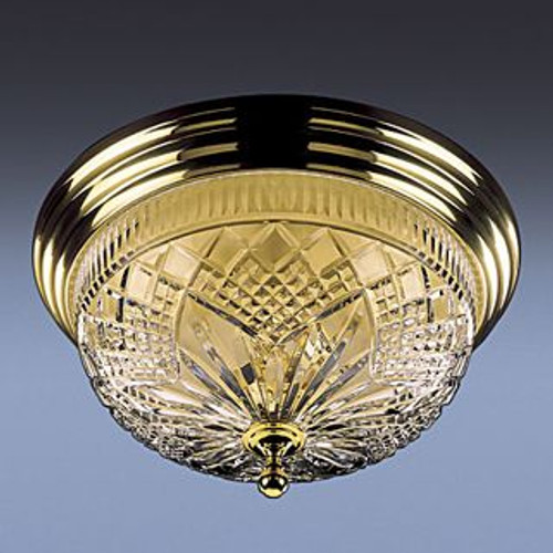 Waterford Beaumont Ceiling Fixture 17 Inch Polished Brass