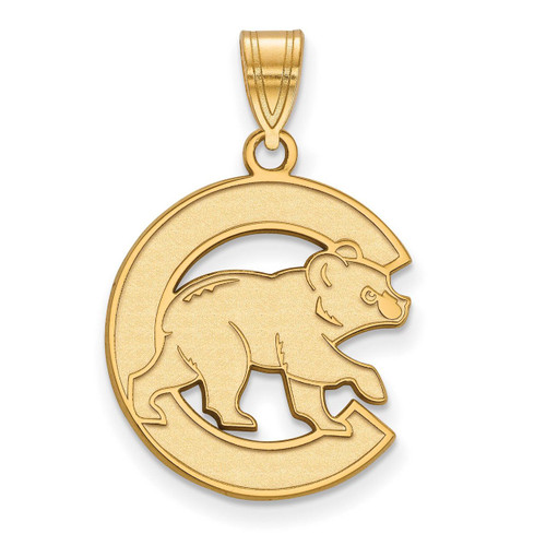 Chicago Cubs Large Pendant 10k Yellow Gold 1Y020CUB