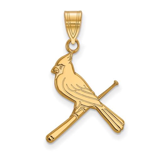 Saint Louis Cardinals Large Pendant 10k Yellow Gold 1Y059CRD