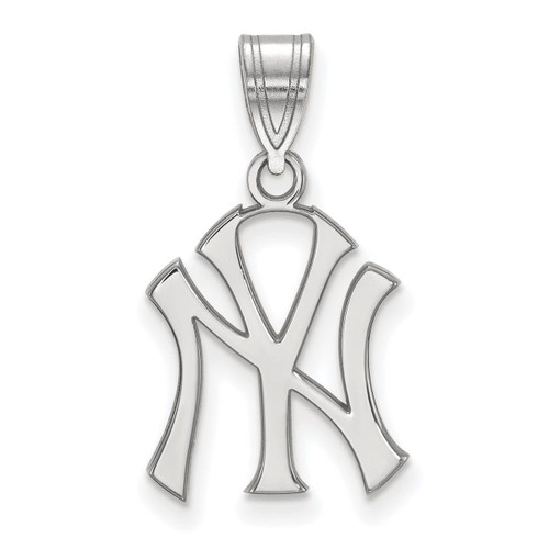 New York Yankees Medium Pendant 14k White Gold 4W003YAN