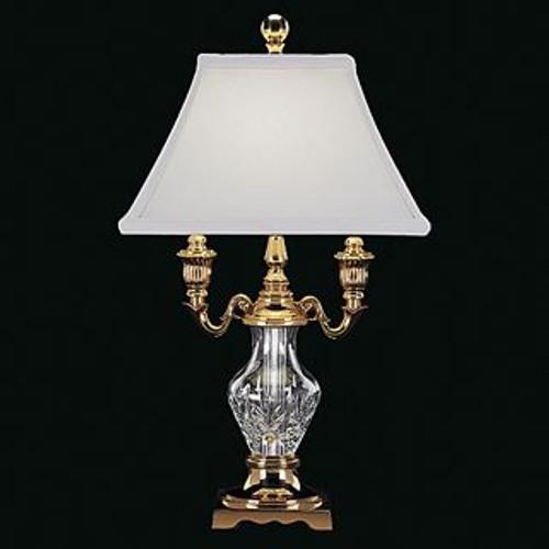 Waterford Glenn Desk Lamp 17.5 Inch Polished Brass