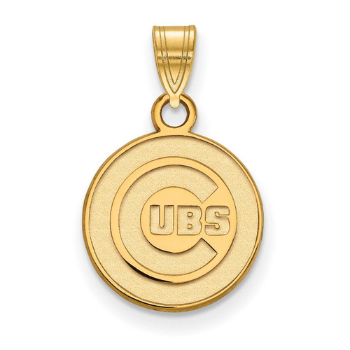 Chicago Cubs Small Pendant 14k Yellow Gold 4Y002CUB