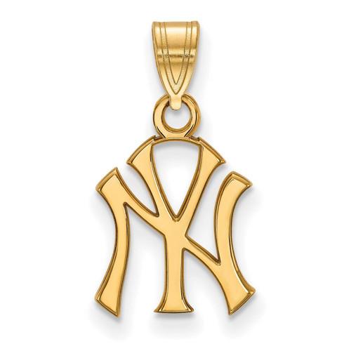 New York Yankees Small Pendant 14k Yellow Gold 4Y002YAN