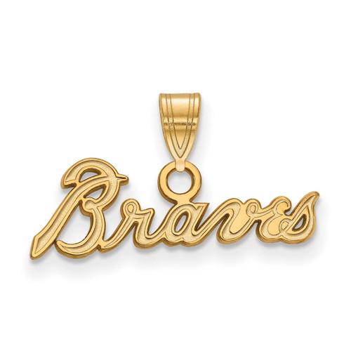 Atlanta Braves Small Pendant 14k Yellow Gold 4Y024BRA