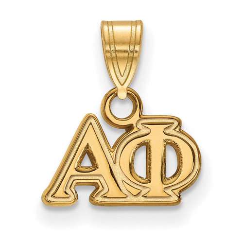Alpha Phi Small Pendant Gold-plated Silver GP002APH