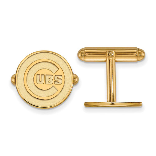 Chicago Cubs Cufflinks Gold-plated Silver GP008CUB