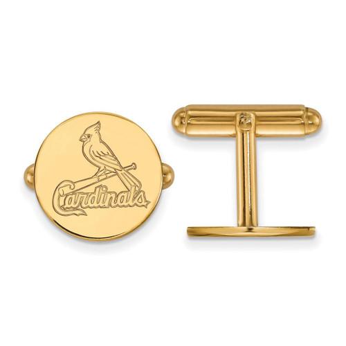 Saint Louis Cardinals Cufflinks Gold-plated Silver GP010CRD