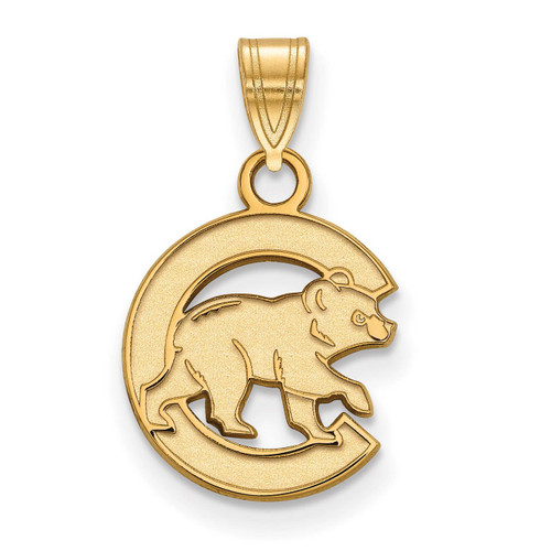 Chicago Cubs Small Pendant Gold-plated Silver GP019CUB