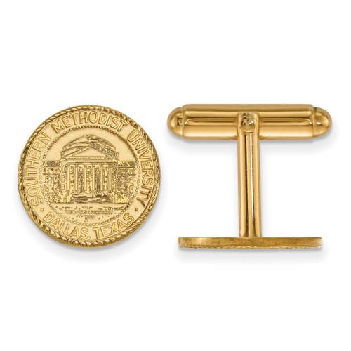 Southern Methodist University Crest Cufflinks Gold-plated Silver GP021SMU
