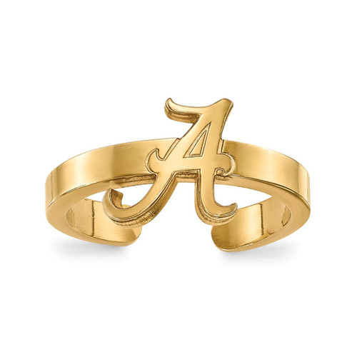 University of Alabama Toe Ring Gold-plated Silver GP029UAL